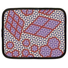 Triangle Plaid Circle Purple Grey Red Netbook Case (xl)