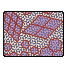 Triangle Plaid Circle Purple Grey Red Fleece Blanket (small) by Alisyart