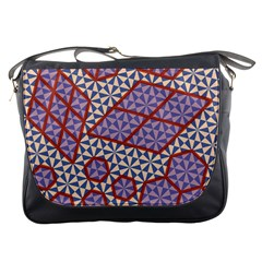 Triangle Plaid Circle Purple Grey Red Messenger Bags by Alisyart