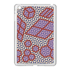 Triangle Plaid Circle Purple Grey Red Apple Ipad Mini Case (white) by Alisyart