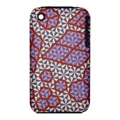 Triangle Plaid Circle Purple Grey Red Iphone 3s/3gs by Alisyart