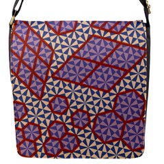 Triangle Plaid Circle Purple Grey Red Flap Messenger Bag (s) by Alisyart