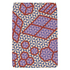 Triangle Plaid Circle Purple Grey Red Flap Covers (s)  by Alisyart