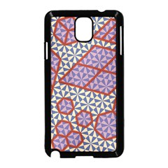 Triangle Plaid Circle Purple Grey Red Samsung Galaxy Note 3 Neo Hardshell Case (black)