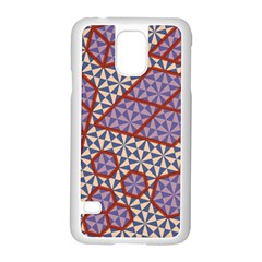 Triangle Plaid Circle Purple Grey Red Samsung Galaxy S5 Case (white)