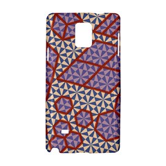 Triangle Plaid Circle Purple Grey Red Samsung Galaxy Note 4 Hardshell Case by Alisyart