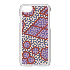 Triangle Plaid Circle Purple Grey Red Apple Iphone 7 Seamless Case (white) by Alisyart
