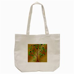 Tree Root Leaves Contour Outlines Tote Bag (cream) by Simbadda
