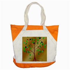 Tree Root Leaves Contour Outlines Accent Tote Bag by Simbadda