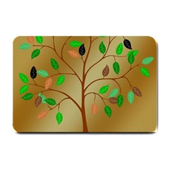Tree Root Leaves Contour Outlines Small Doormat  by Simbadda