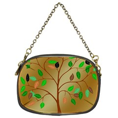 Tree Root Leaves Contour Outlines Chain Purses (one Side)  by Simbadda