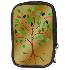 Tree Root Leaves Contour Outlines Compact Camera Cases