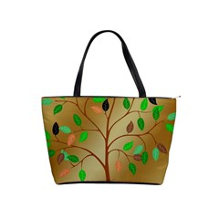 Tree Root Leaves Contour Outlines Shoulder Handbags by Simbadda