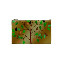 Tree Root Leaves Contour Outlines Cosmetic Bag (small)  by Simbadda