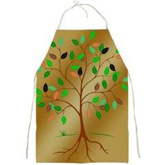 Tree Root Leaves Contour Outlines Full Print Aprons by Simbadda