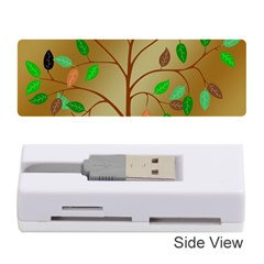 Tree Root Leaves Contour Outlines Memory Card Reader (stick)  by Simbadda
