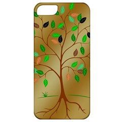 Tree Root Leaves Contour Outlines Apple Iphone 5 Classic Hardshell Case by Simbadda