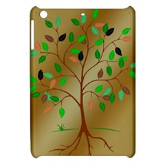 Tree Root Leaves Contour Outlines Apple Ipad Mini Hardshell Case by Simbadda