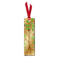 Tree Root Leaves Contour Outlines Small Book Marks