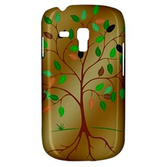 Tree Root Leaves Contour Outlines Galaxy S3 Mini by Simbadda