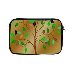 Tree Root Leaves Contour Outlines Apple Ipad Mini Zipper Cases