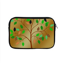 Tree Root Leaves Contour Outlines Apple Macbook Pro 15  Zipper Case by Simbadda