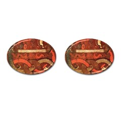 Works From The Local Cufflinks (oval) by Simbadda
