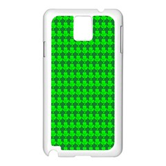 St  Patricks Day Green Samsung Galaxy Note 3 N9005 Case (white) by PhotoNOLA