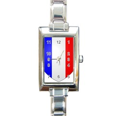 Shield On The French Senate Entrance Rectangle Italian Charm Watch by abbeyz71