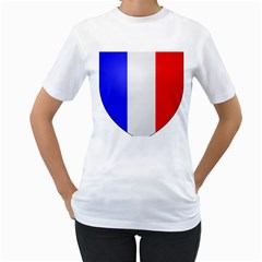 Shield On The French Senate Entrance Women s T-shirt (white) (two Sided) by abbeyz71