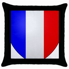 Shield On The French Senate Entrance Throw Pillow Case (black) by abbeyz71