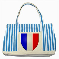 Shield On The French Senate Entrance Striped Blue Tote Bag by abbeyz71