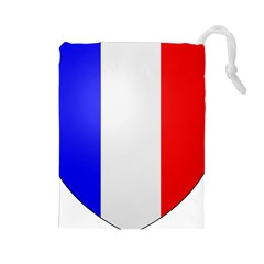 Shield On The French Senate Entrance Drawstring Pouches (large)  by abbeyz71