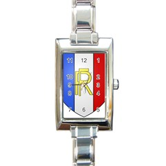 Semi-official Shield Of France Rectangle Italian Charm Watch by abbeyz71