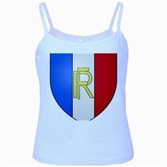 Semi-official Shield Of France Baby Blue Spaghetti Tank by abbeyz71