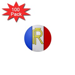 Semi-official Shield Of France 1  Mini Buttons (100 Pack)  by abbeyz71