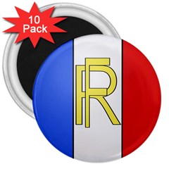 Semi Official Shield Of France 3  Magnets (10 Pack)  by abbeyz71