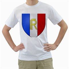 Semi-official Shield Of France Men s T-shirt (white) (two Sided) by abbeyz71