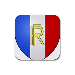 Semi Official Shield Of France Rubber Coaster (square)  by abbeyz71