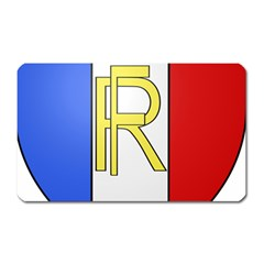 Semi-official Shield Of France Magnet (rectangular) by abbeyz71