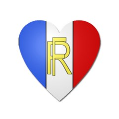 Semi Official Shield Of France Heart Magnet by abbeyz71