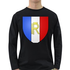 Semi-official Shield Of France Long Sleeve Dark T-shirts by abbeyz71