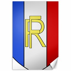 Semi Official Shield Of France Canvas 24  X 36  by abbeyz71