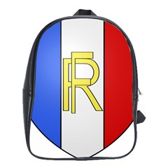 Semi-official Shield Of France School Bags(large)  by abbeyz71