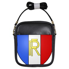 Semi-official Shield Of France Girls Sling Bags by abbeyz71