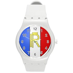 Semi-official Shield Of France Round Plastic Sport Watch (m) by abbeyz71