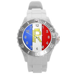 Semi-official Shield Of France Round Plastic Sport Watch (l) by abbeyz71