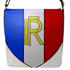 Semi-official Shield Of France Flap Messenger Bag (s) by abbeyz71