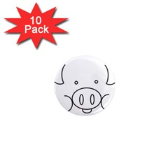 Pig Logo 1  Mini Magnet (10 Pack)  by Simbadda