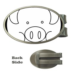 Pig Logo Money Clips (oval)  by Simbadda